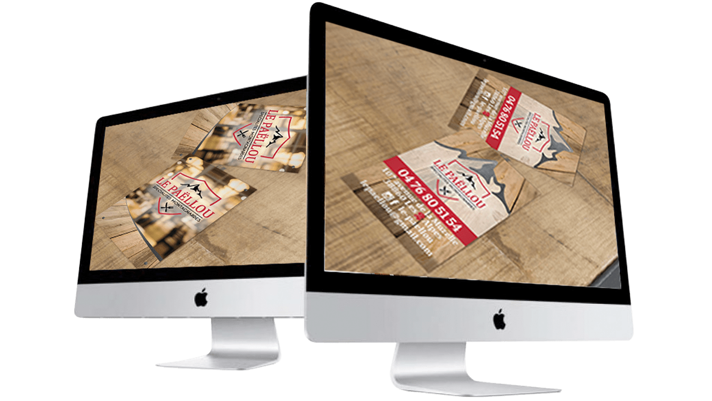Oliweb concept Conception graphique pour le restaurant paellou aux 2 alpes