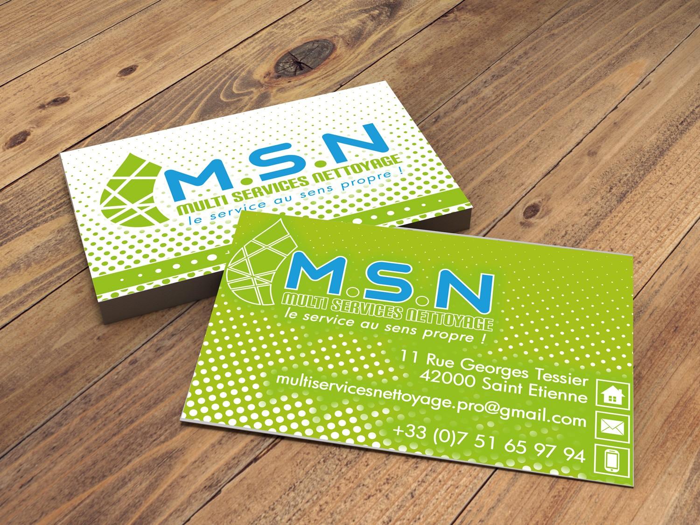 creation de carte de visite pour MSN