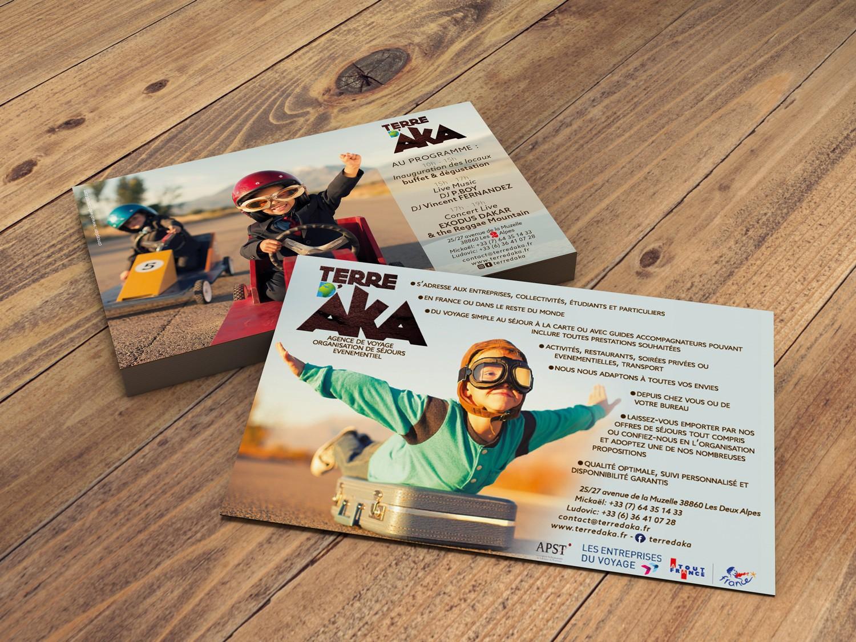 Oliwebconcept conception de flyers pour terre d'aka
