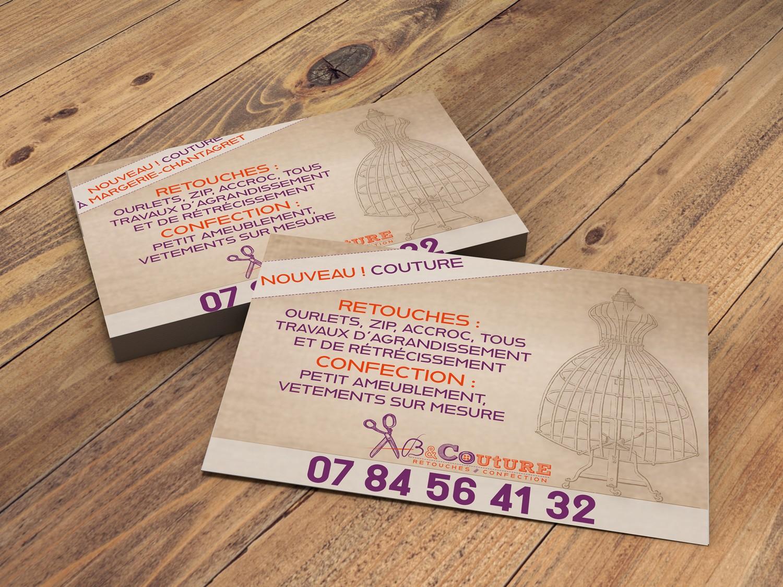 creation graphique flyers pour ab couture