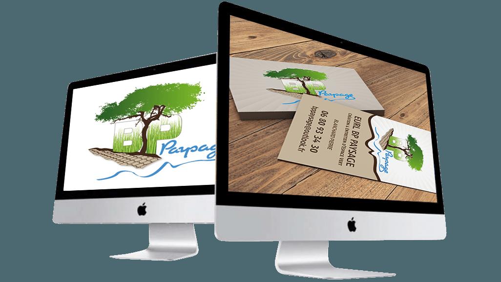 Oliwebconcept Conception graphique d'un logo et cartes de visite pour BP Paysage